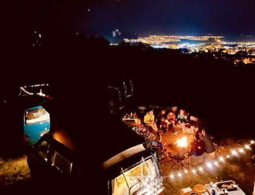 Nočný výhľad na Košice